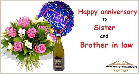 happy anniversary  sister  brother  law messages