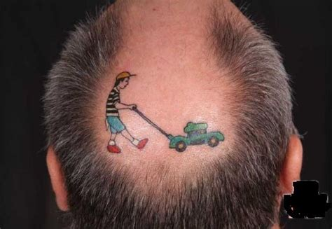 lawnmower creative tattoos tattoos creative tattoos lawn mower