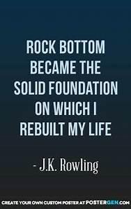 1000+ Rock Bott... Rock Foundation Quotes