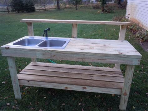 diy outdoor sink station potting bench with sink bing images in a garden