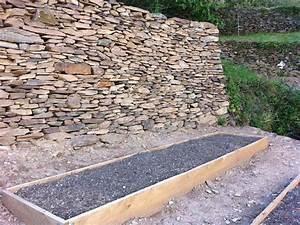 les vans mur de soutenement en pierre seche o de pierres With good extension maison en l 16 les vans de pierres et de bois