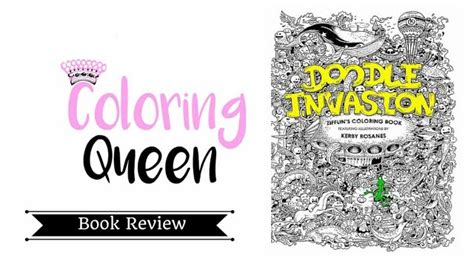 doodle invasion adult coloring book review youtube