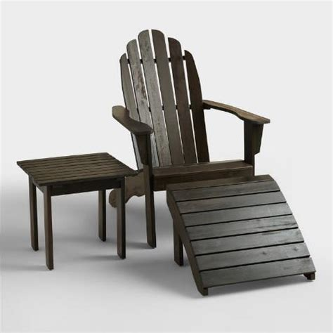 espresso adirondack chair world market