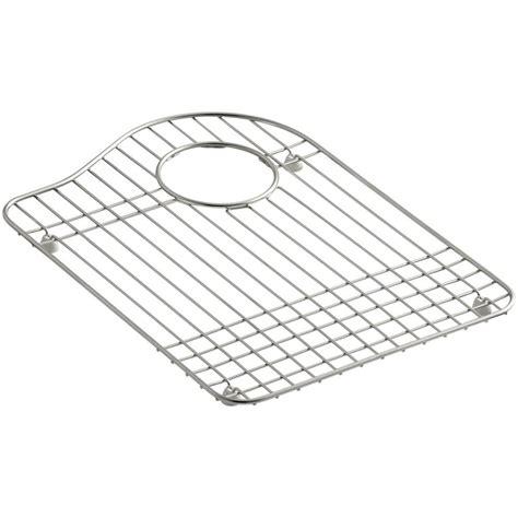 kohler hartland sink protector kohler hartland stainless steel bottom basin rack k 6016r