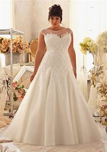 Top 10 plus size wedding dress designers by pretty pear bride for Plus size designer wedding dresses