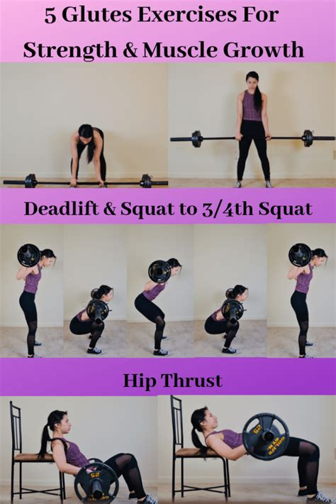 growth exercises muscle strength glutes exercise lifting weight butt list circuit