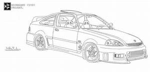 free coloring pages of how to draw honda civic With honda accord ex