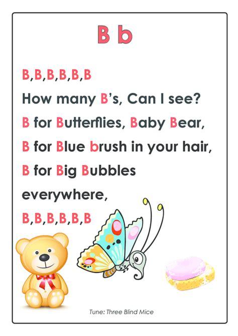 abc songs letter b kidspressmagazine 882 | abc songs letter b