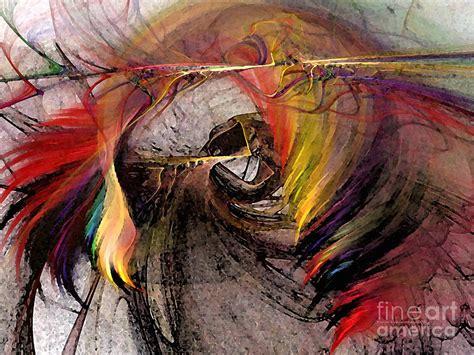 huntress abstract art digital art  karin kuhlmann