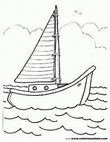 Boat Sailboat Coloring Pages Drawing Template Sailing Sheet Print Sketch Printout Coloing Motor Templates Popular Getdrawings Gmm Coloringhome Comments sketch template