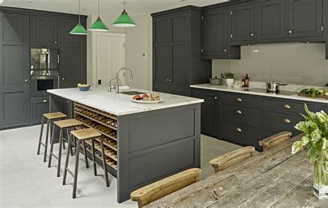 wine rack kitchen island grey kitchen design battersea brayer design kitchens