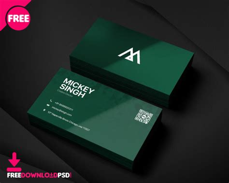 company busisness card psd template freedownloadpsdcom