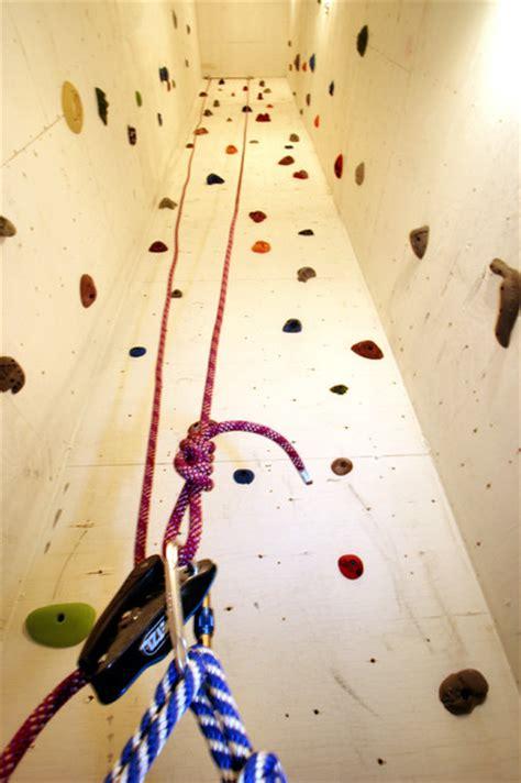 custom designed rock climbing wall contemporary home