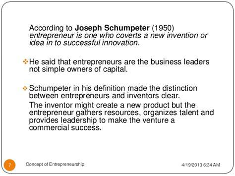 Concep Tof Entrepreneurship