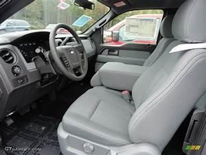 Steel Gray Interior 2013 Ford F150 Xlt Supercab 4x4 Photo