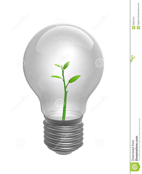 bulb with plant inside stock image image 20667941