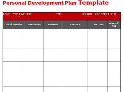 personal development plan template word microsoft