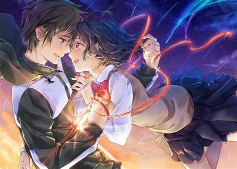 Anime Couple Terpisah Kimi No Nawa Quot Miyamizu Mitsuha Quot Quot Tachibana Taki Quot Kimi No Na Wa