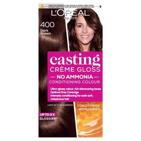 It leaves you with visible shimmering tones and the nourishing. L'oreal Casting Creme Gloss Dark Brown 400 Semi-Permanent ...