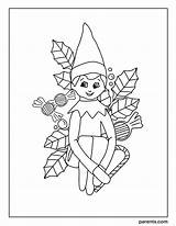 Elf Shelf Coloring Excited Printables Holiday Inspired Happy sketch template