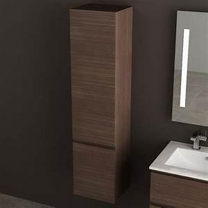 Colonne Rangement Salle De Bain : colonne de rangement cardo finition noyer ~ Premium-room.com Idées de Décoration