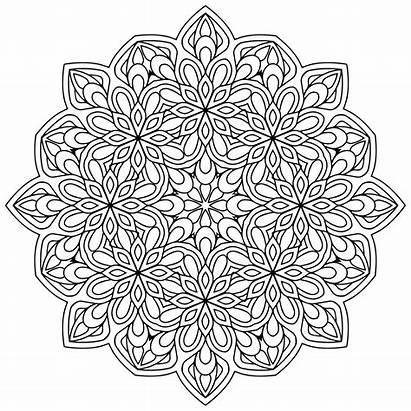 Mandala Coloring Mandalas Zen Flowers Pages Antistress