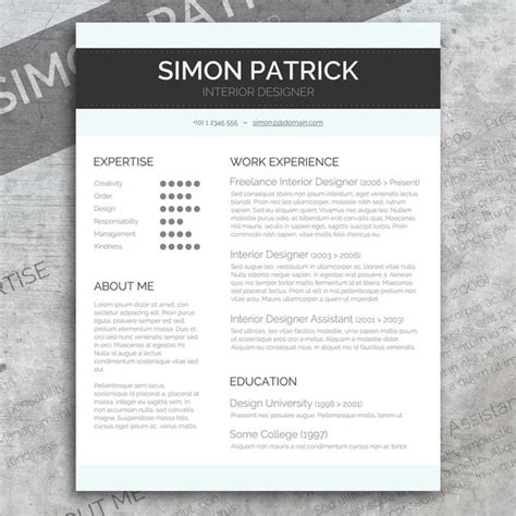 smart word cv cover letter resume templates on
