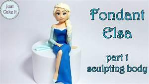 How to make fondant Elsa cake topper part 1 - body /Jak ...