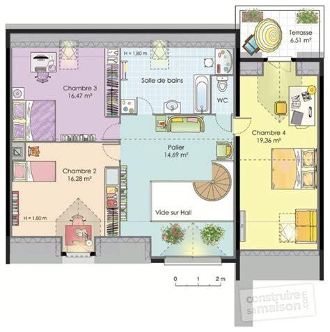 plan de maison gratuit 4 chambres grande maison contemporaine dé du plan de grande