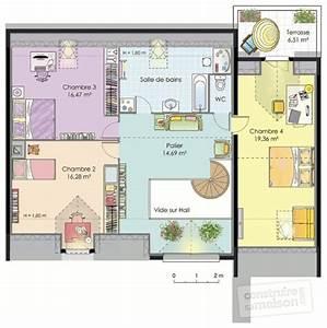 Grande maison contemporaine detail du plan de grande for Plan de belle maison