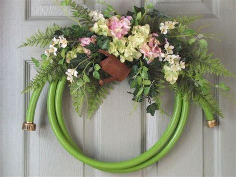 Best 25 Garden Hose Wreath Ideas On Pinterest