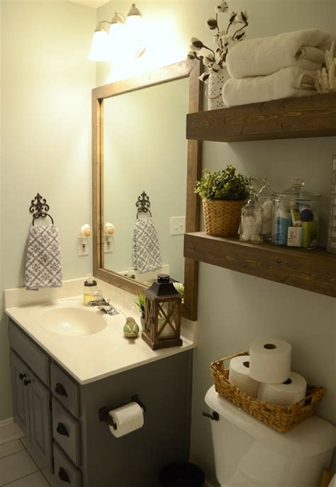 modern farmhouse inspired bathroom makeover  room  month  challenge reveal