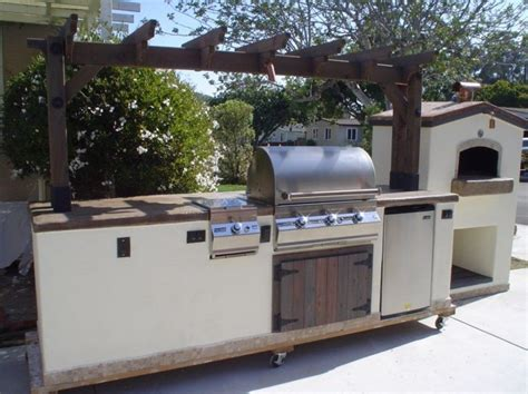 Exceptional Outdoor Kitchen Island On Wheels Of Burner