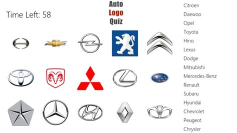 Auto Logo Quiz For Windows 8 And 8.1