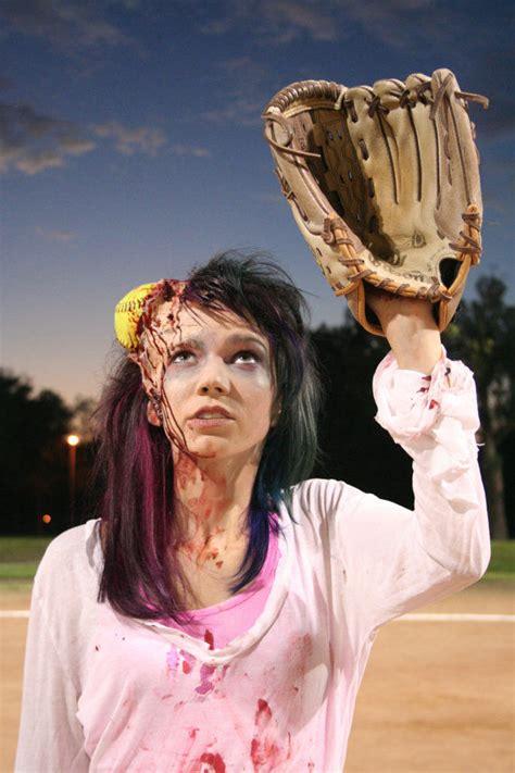 bloody softball prosthetics yellow softball