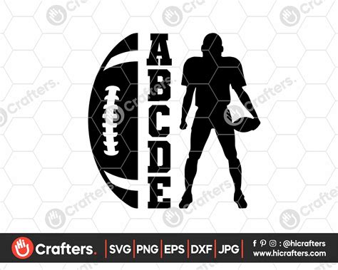 football svg football player silhouette svg  crafters