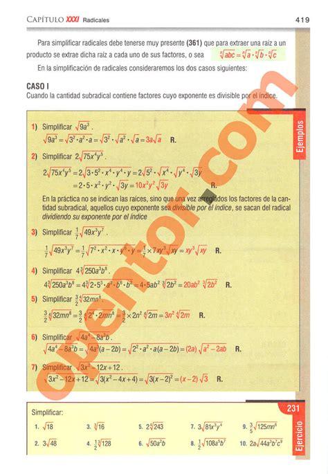 Lumbreras, racso, cuzcano, megabyte, rodo, san marcos, uni. El Libro De Baldor Pdf : Algebra Baldor 4 Ed Pd Baldor ...