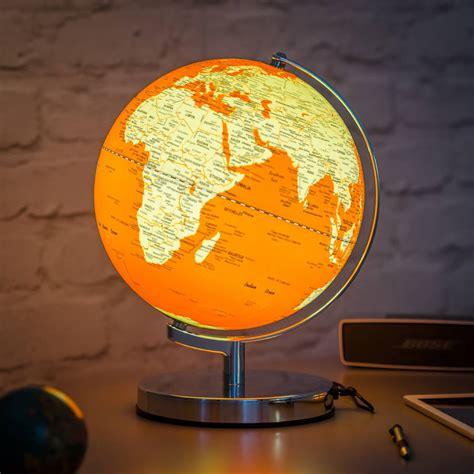 in light globes illuminated led globe light in goldfish orange by
