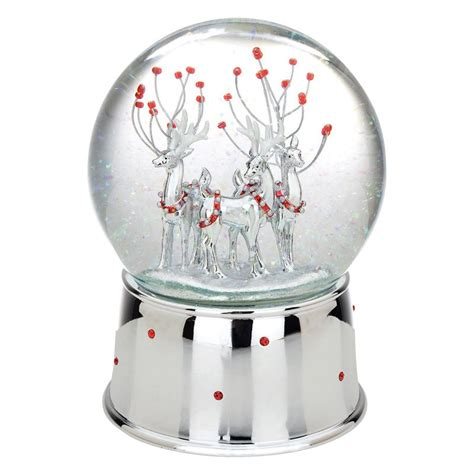 reed and barton winter deer musical snow globe at hayneedle