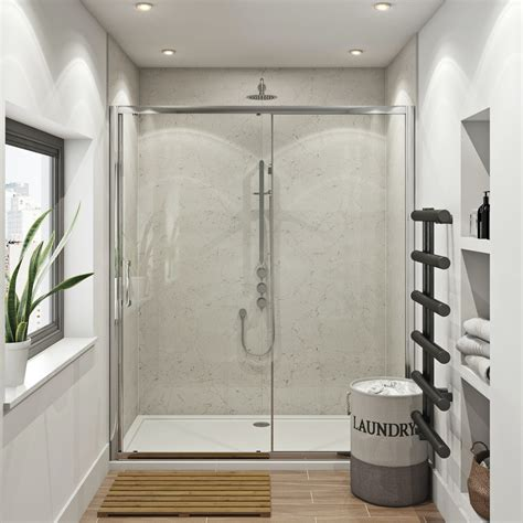 multipanel classic marble shower wall panels  bath
