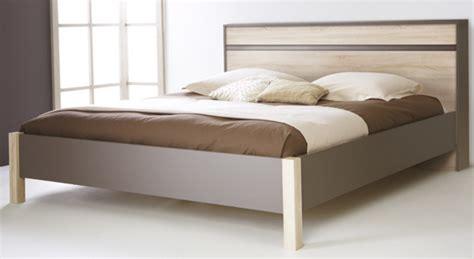 conforama chambre a coucher lit selena chene taupe l 144 5 x h 79 x p 194