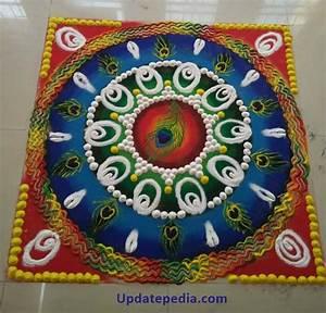 Peacock Rangoli Designs For Diwali Free Hand