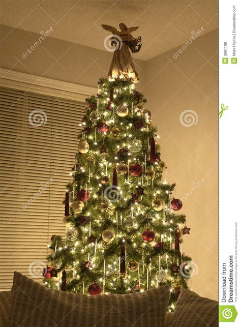 victorian christmas tree royalty  stock  image