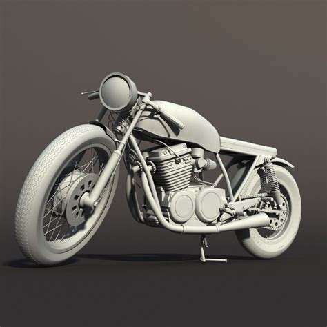 3D Cafe Racer Motorcycle   CGTrader