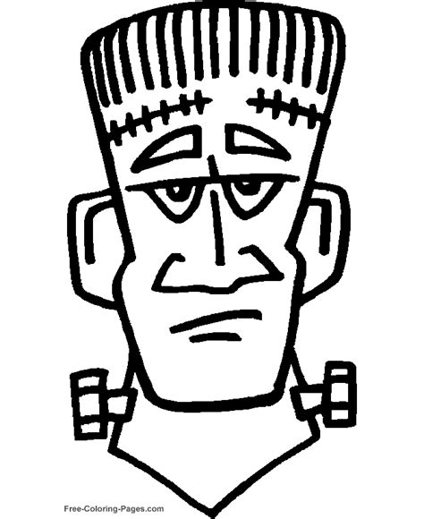 halloween coloring pages frankenstein  color
