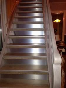 Habillage Escalier Bois : r novation escalier bois habillage escalier stratifi et ~ Dode.kayakingforconservation.com Idées de Décoration