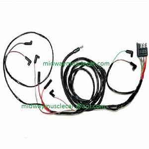 64 Ford Falcon V8 Engine Gauge Feed Wiring Harness 1964 260 289
