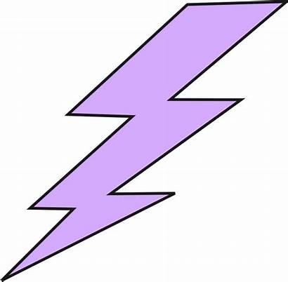 Lightning Bolt Lighting Clipart Purple Animated Thunderbolt