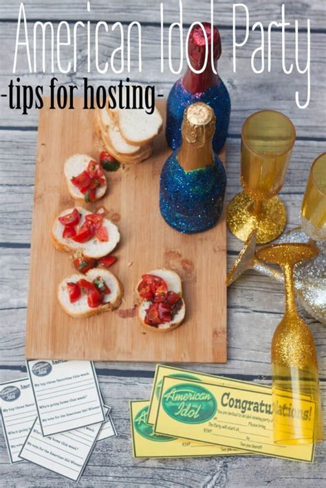 Tips For Hosting An American Idol Party {sweepstakes Closed!}  Naptime Creations