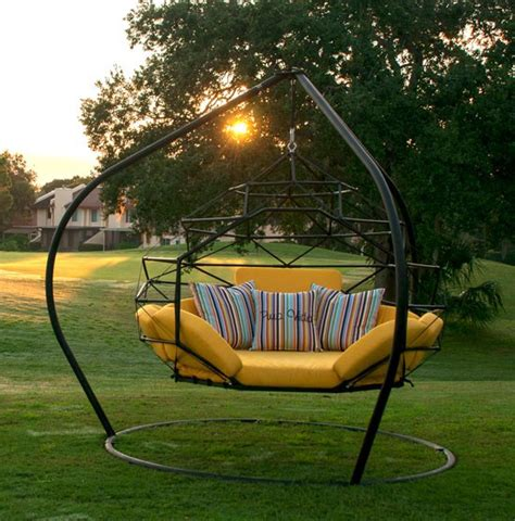 12575 outdoor swing bed the hanging lounger by kodama zome outdoor swing bed
